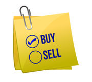 Sell or buy post Royalty Free Stock Photo