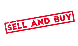 Sell And Buy rubber stamp Royalty Free Stock Photo
