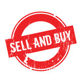 Sell And Buy rubber stamp Stock Image
