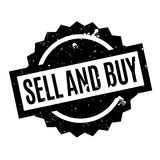 Sell And Buy rubber stamp Stock Photography