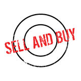 Sell And Buy rubber stamp Royalty Free Stock Photos