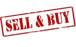 Sell and buy. Rubber stamp with text sell and buy inside,  illustration Stock Photos