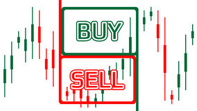 Sell buy trade - Vector graphics on a white background.