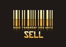 Sell code bar. Must remember one word SELL! Happy shoping stock illustration
