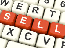 Sell Computer Keys Showing Sales And Business Stock Photo