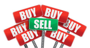 Sell concept Royalty Free Stock Photos