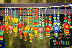 Sell of crafts collars at mexico city Stock Photos