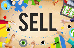 Sell Earning Money Payment Purchasing Concept Stock Photography