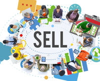 Sell Earning Money Payment Purchasing Concept Royalty Free Stock Images