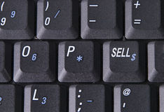 Sell key. Laptop compputer with sell key Stock Image