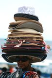 Sell many hats Royalty Free Stock Images