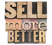 Free Sell More Better In Wood Type Royalty Free Stock Photography - 29546437