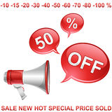 Sell off icon Royalty Free Stock Images