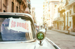Sell old car in Havana Stock Images