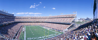 Sell-out crowd at Mile High Stadium, Broncos v. Rams, Denver, Colorado Royalty Free Stock Photo