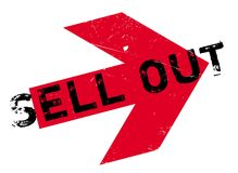 Sell Out rubber stamp Stock Images