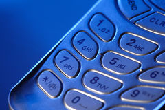 Sell phone keypad. In blue light Stock Image
