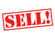 SELL!. Red Rubber Stamp over a white background royalty free stock image