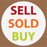 Sell sold buy dot vector Royalty Free Stock Photography