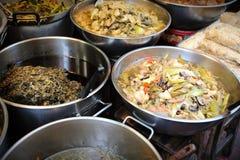 Sell tailandês do alimento em Chinatown fotografia de stock