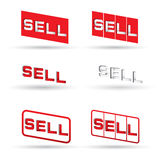 Sell text Royalty Free Stock Photography