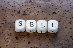Sell text Royalty Free Stock Images