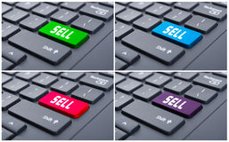 Sell word on modern keypad. Sell word on modern and colorful keypad as e-business concept Royalty Free Stock Photos