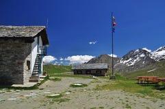 Sella bergkoja, Gran Paradiso nationalpark. Arkivbilder