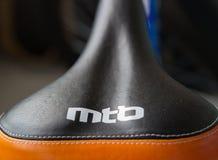 Sella del mountain bike con l'iscrizione MTB immagine stock libera da diritti