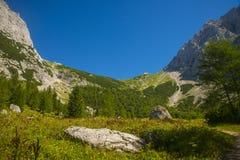 Sella di Kamnik, alpi di Kamnik Savinja, Slovenia Immagine Stock Libera da Diritti