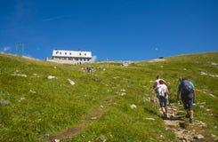 Sella di Kamnik, alpi di Kamnik Savinja, Slovenia Immagine Stock