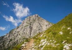 Sella di Kamnik, alpi di Kamnik Savinja, Slovenia Fotografia Stock