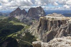 Sella Góruje w Włoskich dolomitach fotografia royalty free
