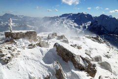 Sella Group in the Dolomites Stock Image