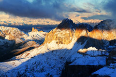Sella Group in the Dolomites, Italy, Europe Royalty Free Stock Photos