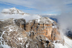 Sella Group in the Dolomites, Italy, Europe Stock Image