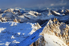 Sella Group in the Dolomites, Italy, Europe Royalty Free Stock Images