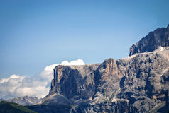 Sella Group, Dolomiti, Trentino Alto Adige, Italy. Particular of  Sella Group, Dolomiti  view from Siusi Royalty Free Stock Photography
