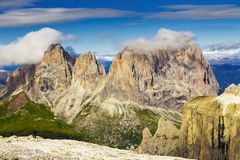 Sella Group mountain seen from Sass Pordoi, Dolomites, Italy Royalty Free Stock Photography
