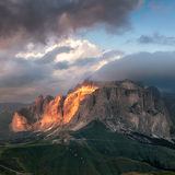Sella group mountain Stock Photos