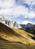 Sella group - the plateau- shaped massif in the Dolomites mountains of northern Italy Royalty Free Stock Photos