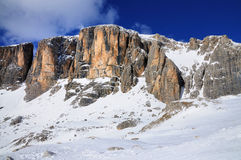 Sella Group, skiing region in Italy Royalty Free Stock Image