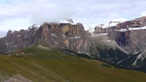 Sella group. View of Sella group mountains from Col Rodella Dolomites Italy stock video