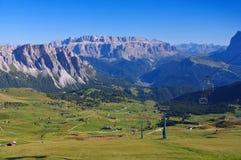Sella grupp i Dolomites Arkivbild