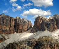 Sella,Italy Alps. Dolomite peaks,Sella,Val di Fassa, Italy Alps Royalty Free Stock Photography