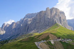 The Sella massif group - Dolomites, Italy Royalty Free Stock Photo