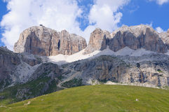 The Sella massif group - Dolomites, Italy Stock Photography