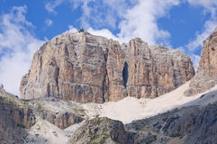 The Sella massif group - Dolomites, Italy Royalty Free Stock Photos