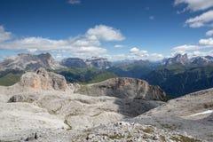 Sella massif seen from Catinaccio - Rosengarden (Italy) Stock Image