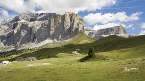 Sella mountain pass Royalty Free Stock Photo